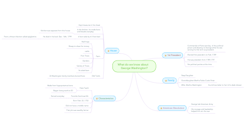 Mind Map: What do we know about    George Washington?