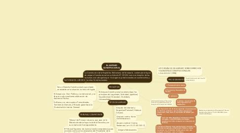 Mind Map: EL AMPARO CONSTITUCIONAL