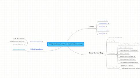 Mind Map: PFK/Spezialbetrachtung, betriebliche Altersvorsorge