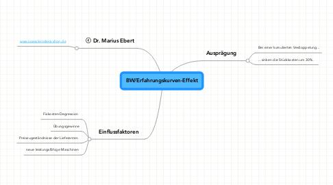 Mind Map: BW/Erfahrungskurven-Effekt