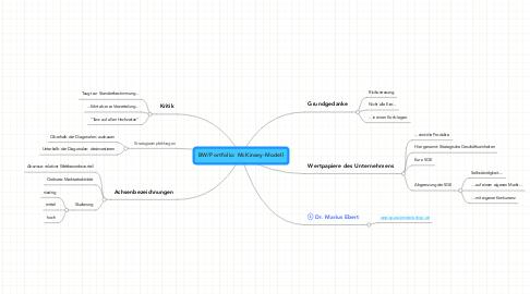 Mind Map: BW/Portfolio: McKinsey-Modell