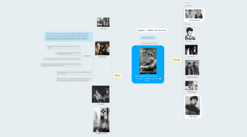 Mind Map: Bob Dylan Chronicles Vol 1 - Chapter 1 - Markin' Up The Score