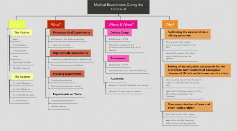 Mind Map: Medical Experiments During the Holocaust