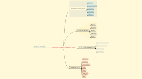 Mind Map: Dispositivos de Entrada,Salida,Almacenamiento y Mixtos.