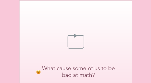 Mind Map: What cause some of us to be bad at math?