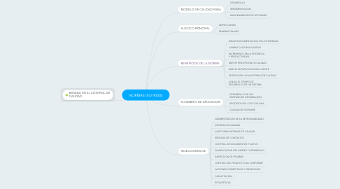 Mind Map: NORMAS ISO 90003