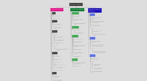 Mind Map: Evaluación y Medición