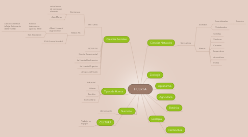 Mind Map: HUERTA