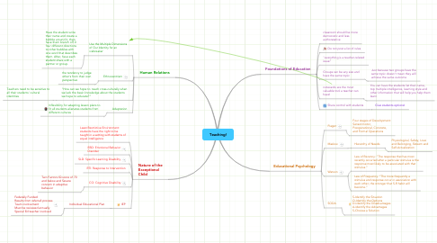 Mind Map: Teaching!