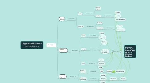 Mind Map: Ciências Morfofuncionais dos  Sistemas Nervosos e  Cardiorrespiratórios