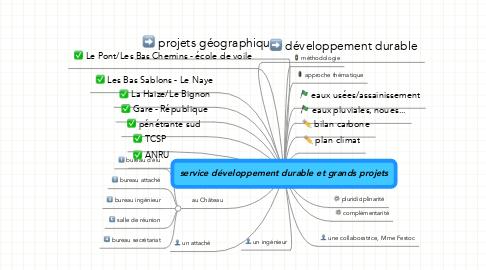 Mind Map: service développement durable et grands projets