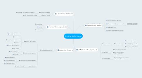 Mind Map: Gestión del entorno