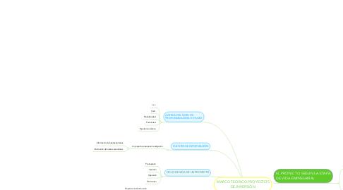 Mind Map: MARCO TEORICO PROYECTOS DE INVERSIÓN