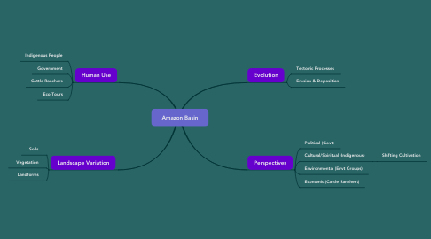 Mind Map: Amazon Basin
