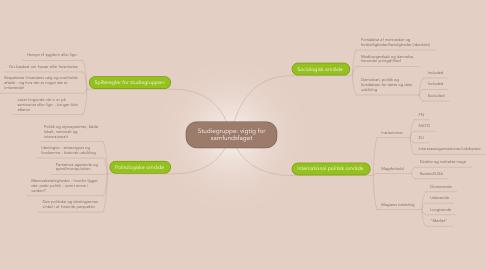 Mind Map: Studiegruppe: vigtig for samfundsfaget