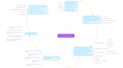 Mind Map: MANUAL DE FUNCIONES POR COMPETENCIAS LABORALES