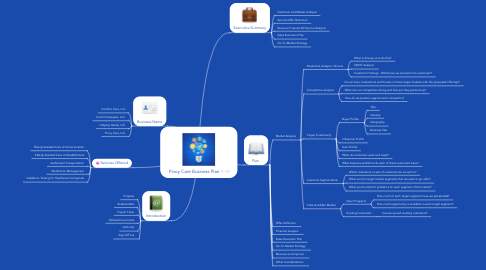 Mind Map: Pinoy Care Business Plan