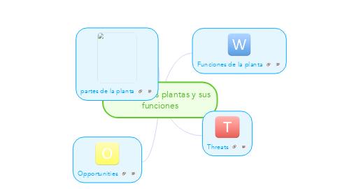 Mind Map: Partes de las plantas y sus funciones