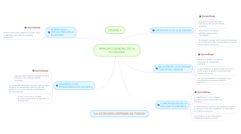 Mind Map: PRINCIPIO GENERAL DE LA ECONOMIA