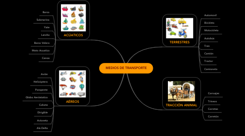 Mind Map: MEDIOS DE TRANSPORTE
