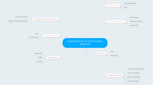 Mind Map: COMPONENTS OF SITUATIONAL ANALYSIS