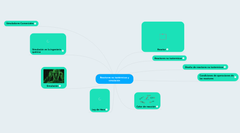 Mind Map: Reactores no isotérmicos y simulación