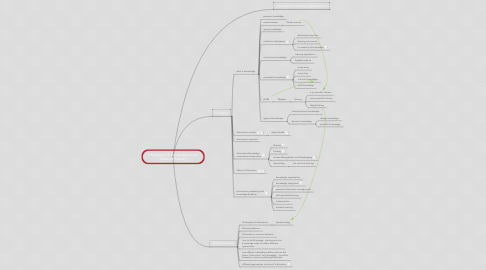 Mind Map: Information & knowledge in the Network Society