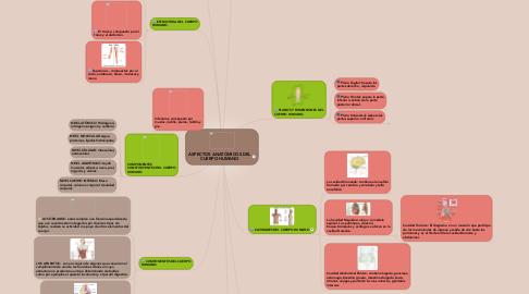 Mind Map: ASPECTOS ANATÓMICOS DEL CUERPO HUMANO