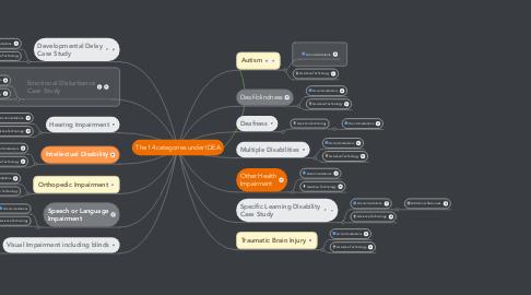 Mind Map: The 14 categories under IDEA