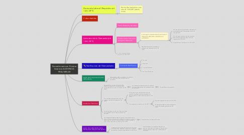Mind Map: Procedimiento en Primera Instancia AUDIENCIA PRELIMINAR