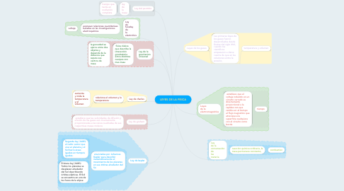 Mind Map: LEYES DE LA FISICA
