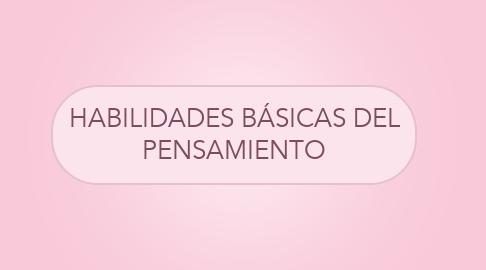 Mind Map: HABILIDADES BÁSICAS DEL PENSAMIENTO