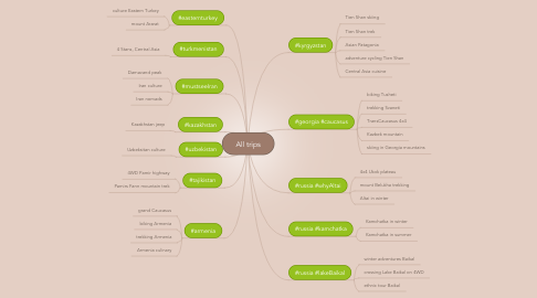 Mind Map: All trips