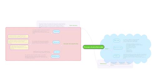 Mind Map: Proceso salud enfermedad