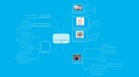 Mind Map: Licencias de derechos de autor.