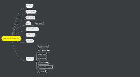Mind Map: Elektro Schmid AG