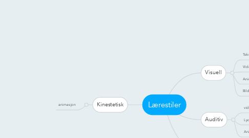 Mind Map: Lærestiler