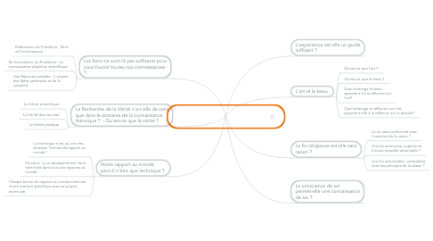 Mind Map: LA RAISON ET LE REEL - INTRODUCTION AUX NOTIONS