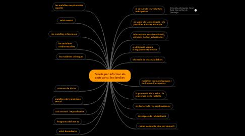Mind Map: Procés per informar els ciutadans i les famílies