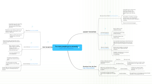 Mind Map: Too many people go to universityhttp://bit.ly/b8XK5A