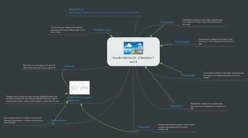 Mind Map: Vocab Vehicle Ch. 3 Sections 1 and 3