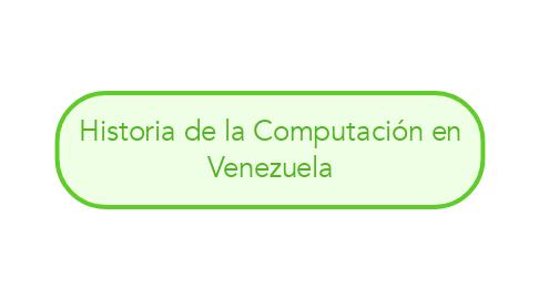 Mind Map: Historia de la Computación en Venezuela