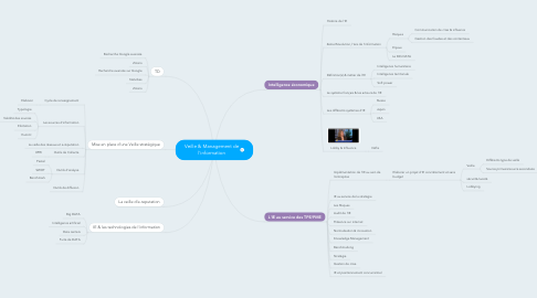 Mind Map: Veille & Management de l'information