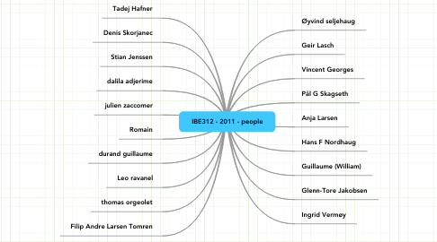 Mind Map: IBE312 - 2011 - people