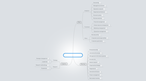Mind Map: MBA Course Structure