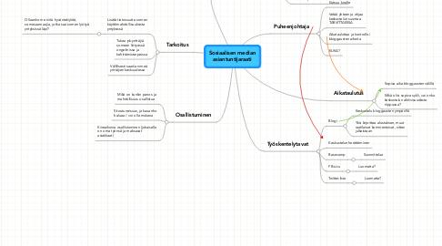 Mind Map: Sosiaalisen median asiantuntijaraati
