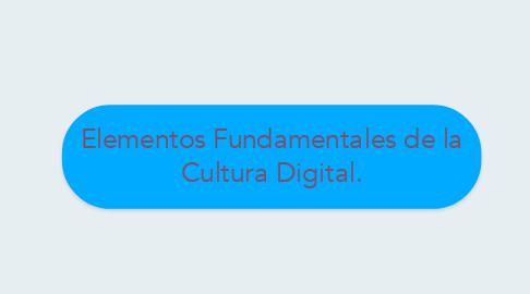 Mind Map: Elementos Fundamentales de la Cultura Digital.