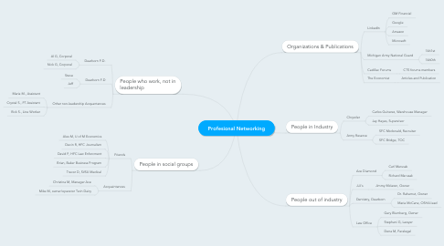 Mind Map: Profesional Networking