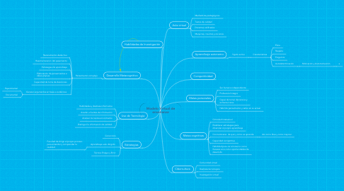 Mind Map: Modelo Virtual de enseñanza