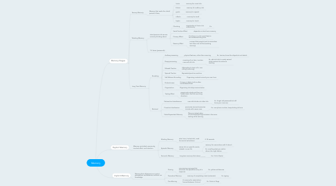 Mind Map: Memory